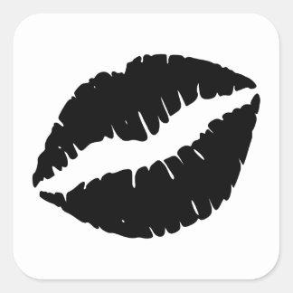 Black Lipstick Square Sticker