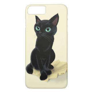Black little kitty iPhone 7 plus case
