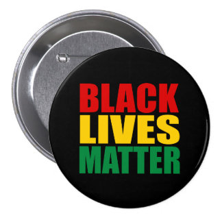 """BLACK LIVES MATTER"" 3-inch 7.5 Cm Round Badge"