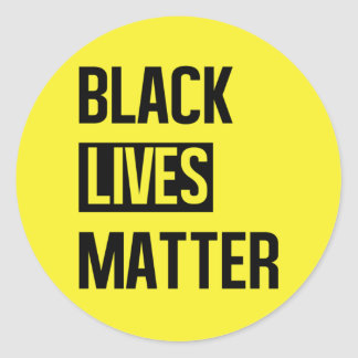 Black Lives Matter Classic Round Sticker