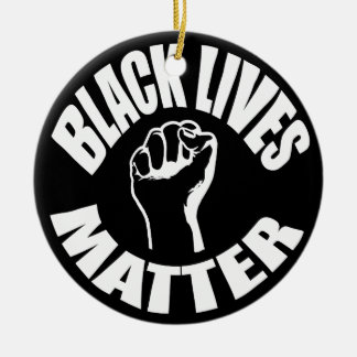 """BLACK LIVES MATTER"" ROUND CERAMIC DECORATION"
