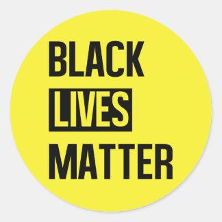 Black Lives Matter Round Sticker