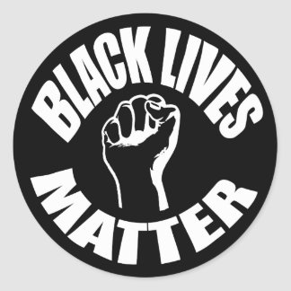 """BLACK LIVES MATTER"" ROUND STICKER"