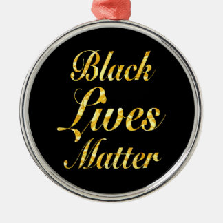 """BLACK LIVES MATTER"" Silver-Colored ROUND DECORATION"
