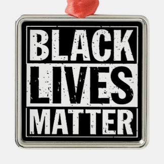 """BLACK LIVES MATTER"" Silver-Colored SQUARE DECORATION"