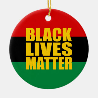 """BLACK LIVES MATTER"" single-sided Round Ceramic Decoration"