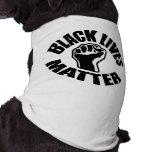 """BLACK LIVES MATTER"" SLEEVELESS DOG SHIRT"