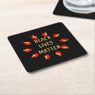 Black Lives Matter Square Paper Coaster