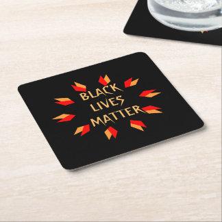 Black Lives Matter Square Paper Coaster