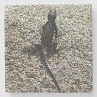 Black Lizard Stone Coaster