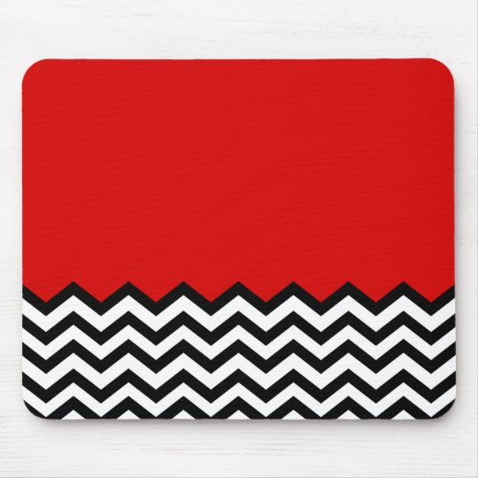 Black Lodge Chevron Red Room Zig Zag Mouse Mat