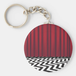 Black Lodge Red Room Key Ring