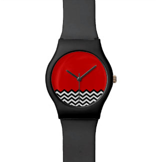 Black Lodge Watch (B/W Chevron Red Room Zig Zag)