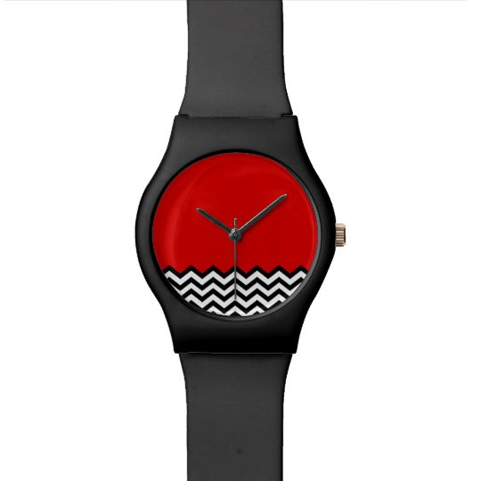 Black Lodge Watch (B/W Chevron Red Room Zig