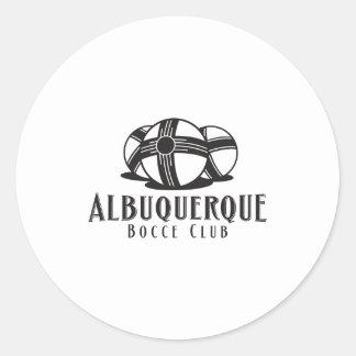 Black Logo Abq bocce Club Round Sticker