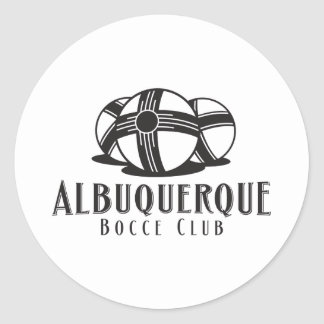 Black Logo Abq bocce Club Round Stickers