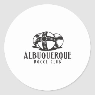 Black Logo Abq bocce Club Round Sticker