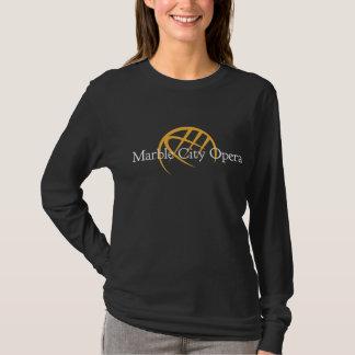 Black Long Sleeve T-shirt: Marble City Opera logo T-Shirt