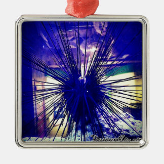 Black Longspine Urchin Christmas Ornament