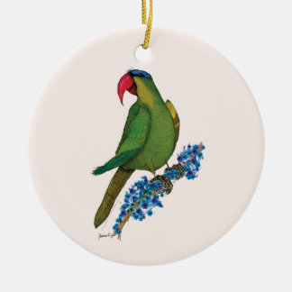 black lored parrot, tony fernandes christmas ornament