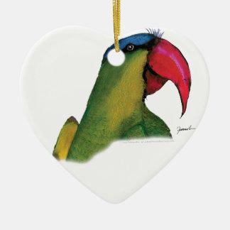 black lored parrot, tony fernandes christmas ornament