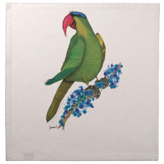 black lored parrot, tony fernandes napkin