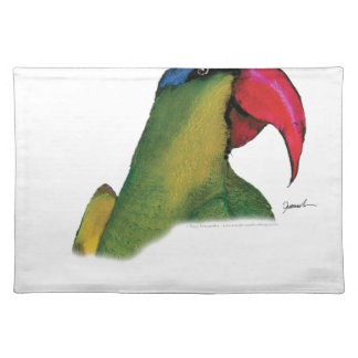 black lored parrot, tony fernandes placemat