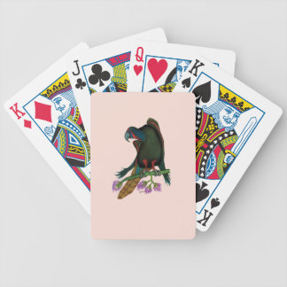 black lory parrot, tony fernandes bicycle playing cards