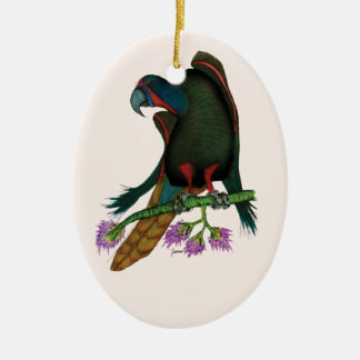 black lory parrot, tony fernandes christmas ornament