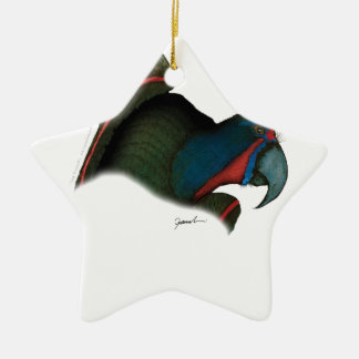 black lory parrot, tony fernandes christmas ornament