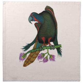 black lory parrot, tony fernandes napkin