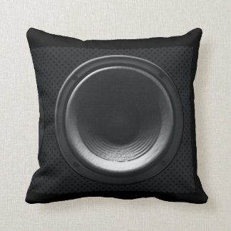 Black Loudspeaker Pillow