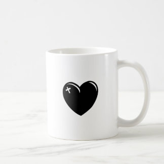 Black Love Cross Coffee Mug
