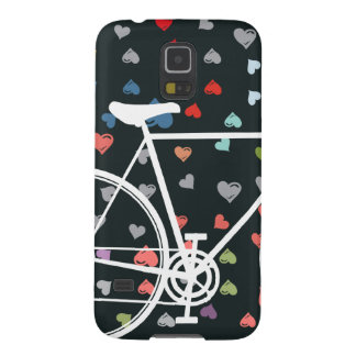 Black Love hearts Abstract Bicycle Galaxy S5 Covers