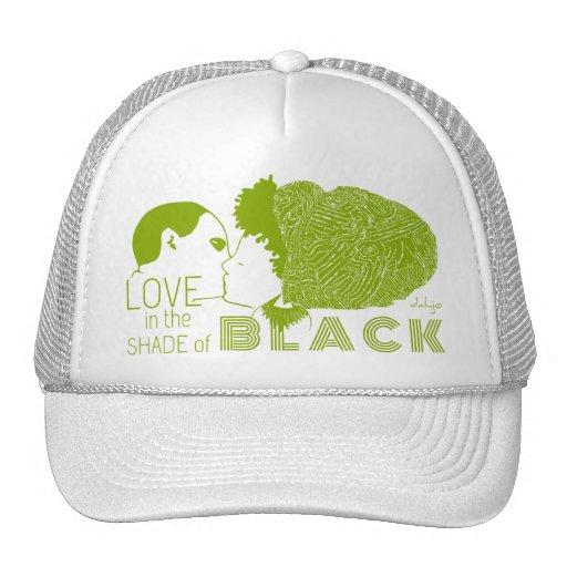 BLACK LOVE in GREEN Mesh Hats