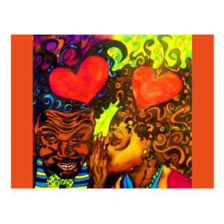 Black Love Poster Postcard