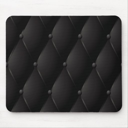 Black luxury buttoned leather mouse pads