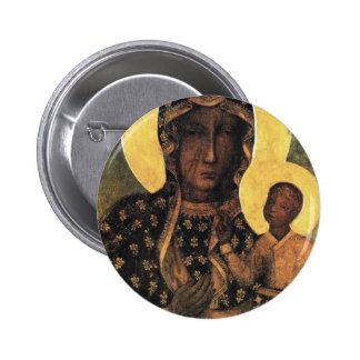 Black Madonna Poland Our Lady of Czestochowa print 6 Cm Round Badge