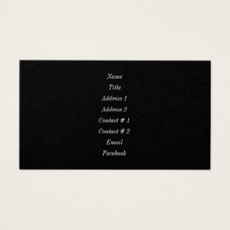 Black Magic Business Card