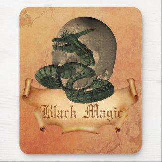 Black Magic Skull Mouse Pad