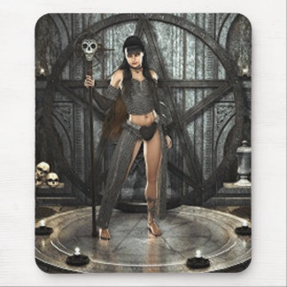 Black Magic Witch Mouse Mat