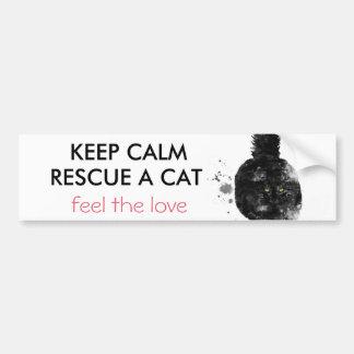 BLACK MAIN COON CAT - BUMPER STICKER