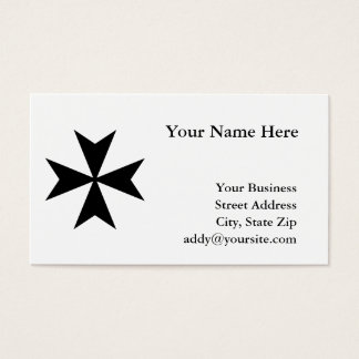 Black Maltese Cross Business Card