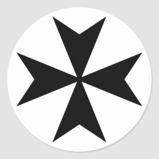 Black Maltese Cross Sticker