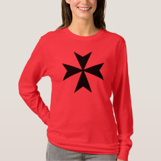 Black Maltese Cross T-Shirt