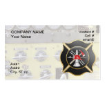 Black maltese  firefighting cross Double-Sided standard business cards (Pack of 100)