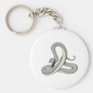 Black Mamba Basic Round Button Key Ring
