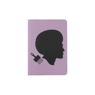 BLACK MAN AND HIS AFRO Passport Holder