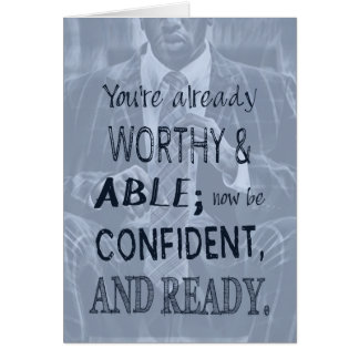 Black Man Confidence Card