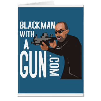 Black Man With A Gun LogoWear Greeting Card